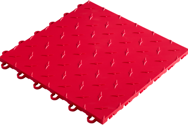 Revetement-sol-PVC-garage-grip-rouge